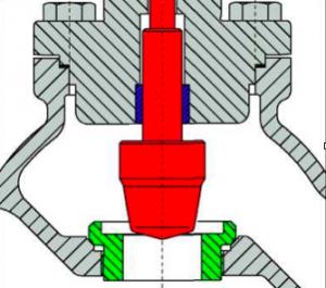 Регулирующий клапан с резьбовым соединением седла