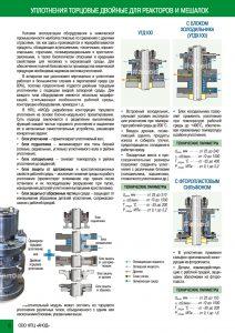 Уплотнения торцовые для реакторов и мешалок